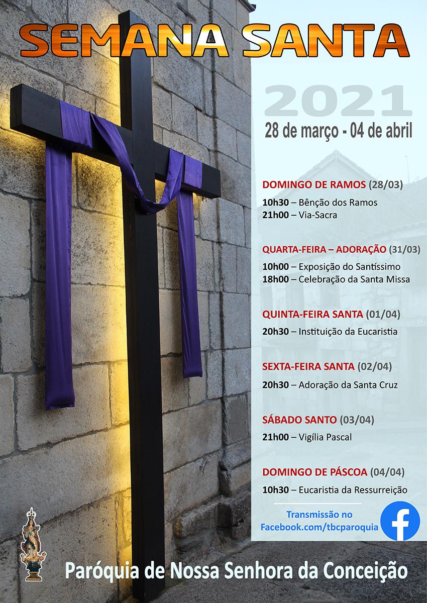 Semana Santa - horários e celebrações